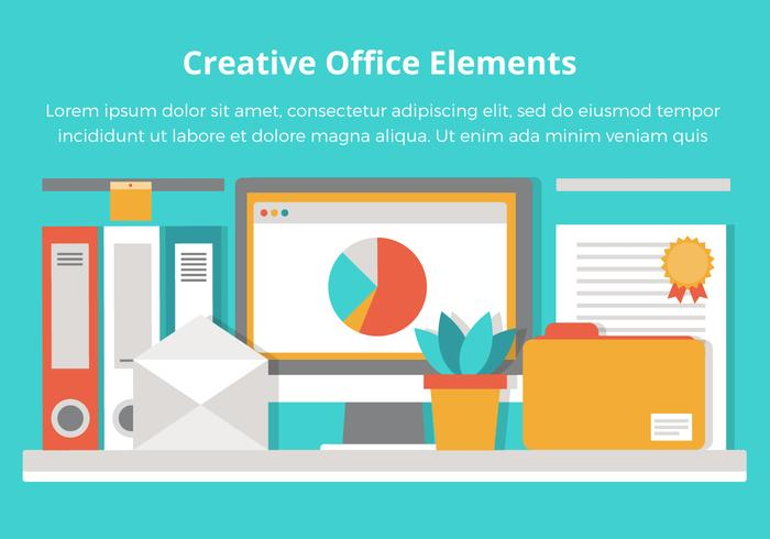 Libre oficina vector plana elementos de dise o descargue for Elementos para oficina