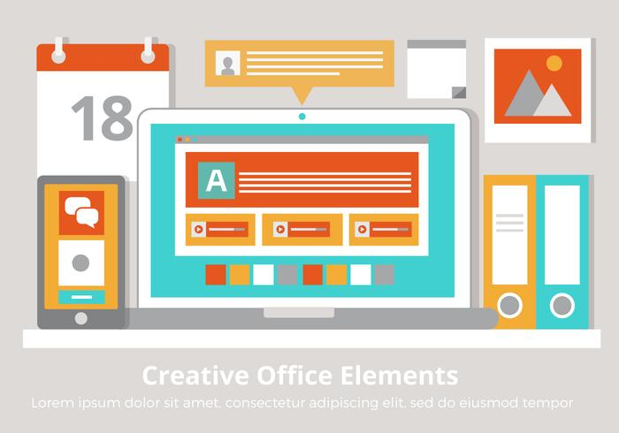 Free Vector Creative Office Elements
