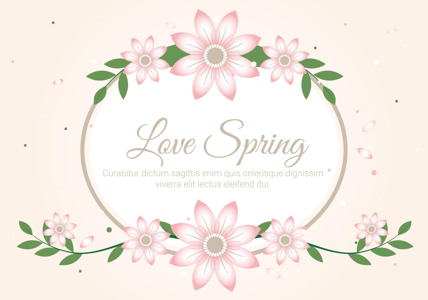 free spring season decoration vector background