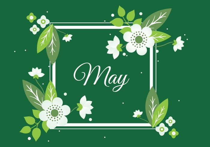 Free Spring Flower Wreath Background