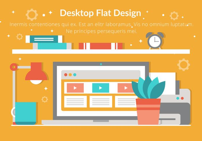 Free Vector Flat Design Desktop Elements