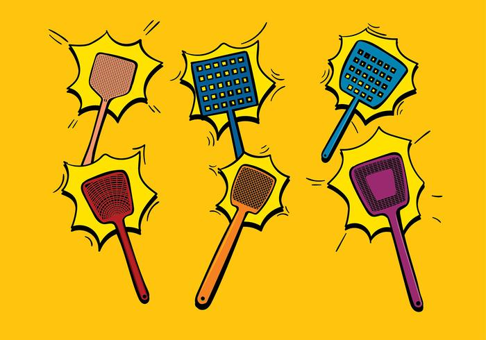 Fly Swatter Cartoon Free Vector