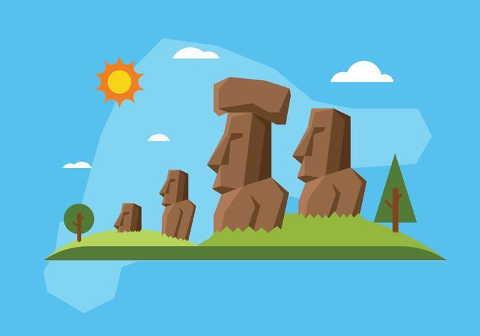 Easter island illustration