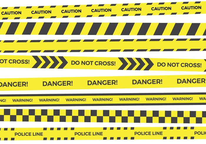 Yellow Danger Tape Vector Collections