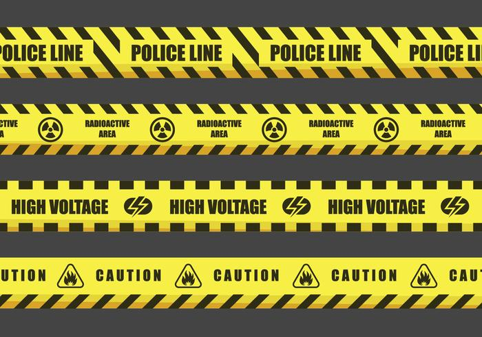 Danger Tape Vector Designs