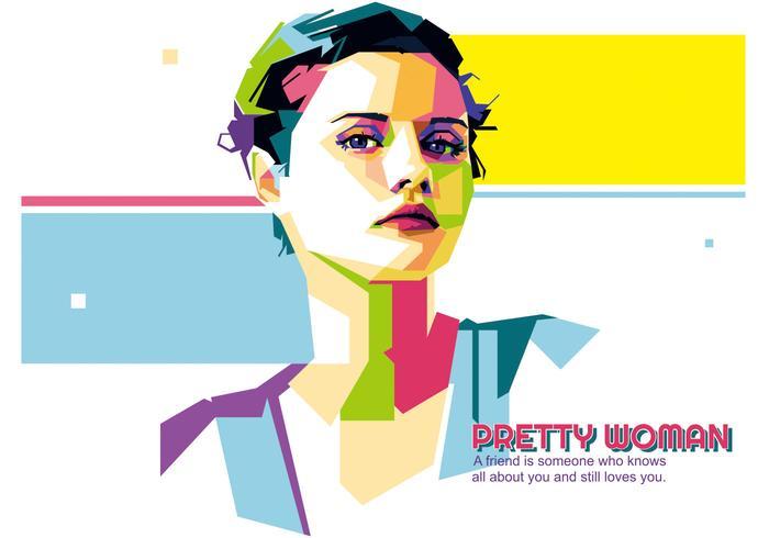 Pretty Woman vector WPAP