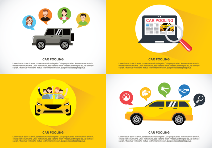 Carpool vector illustrator