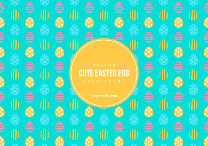 Cute Easter Egg Pattern Background