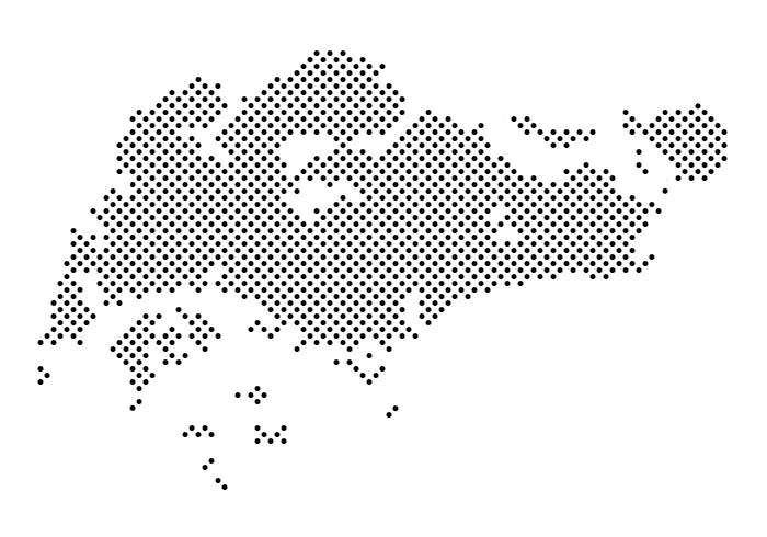 Dotted Singapore Map Vector