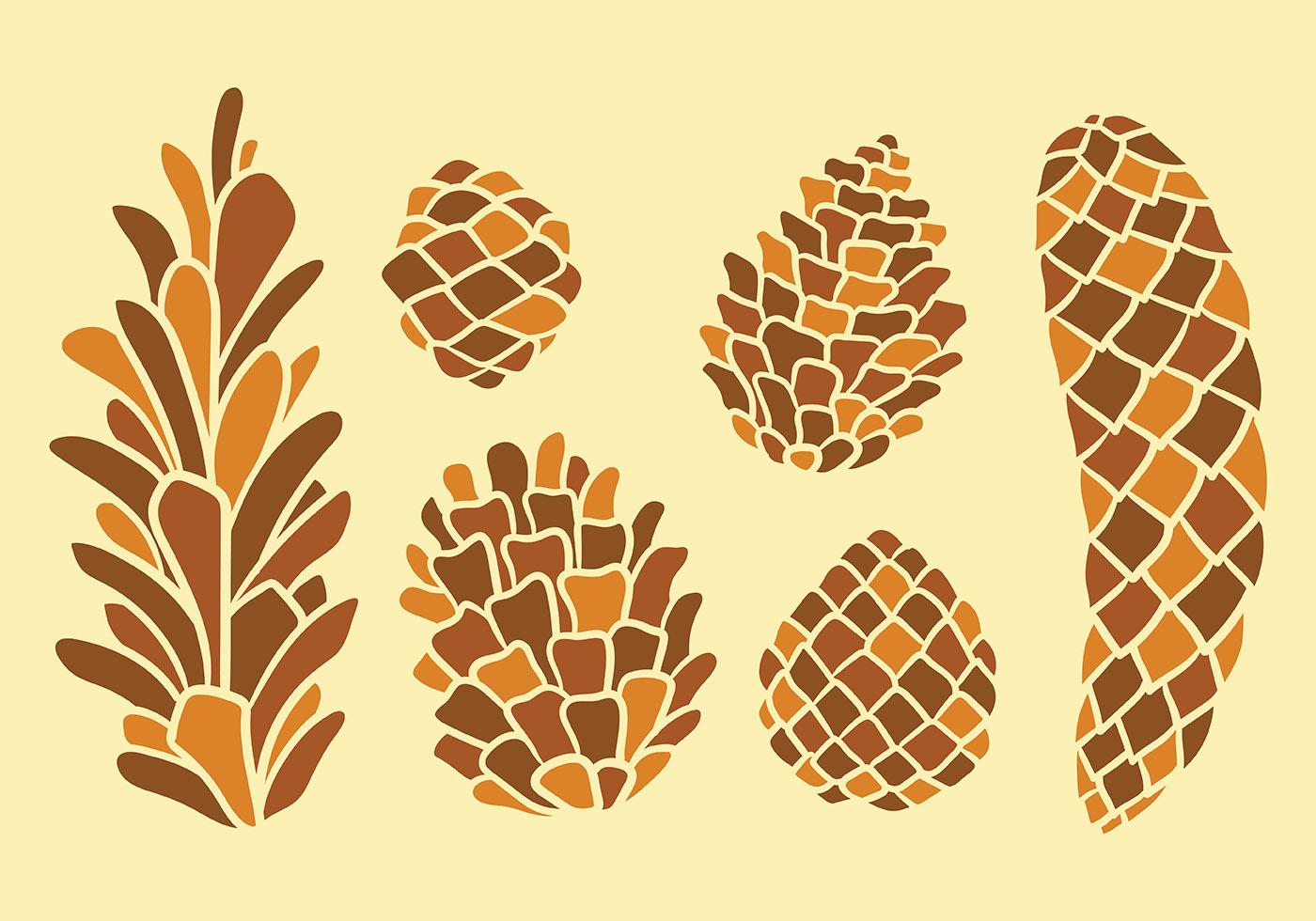 free pine cones vector icons download free vector art