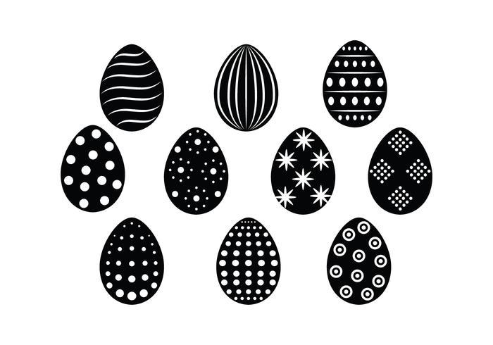 Free Easter Eggs Silhouette Vektor