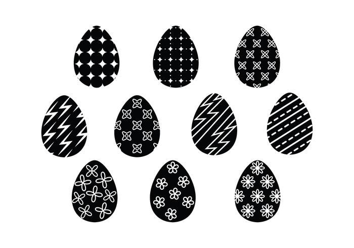 Free Vector Easter Eggs Silhueta