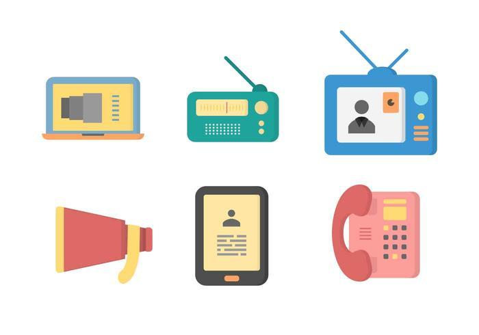 Vectores libres icónicas de Comunicación