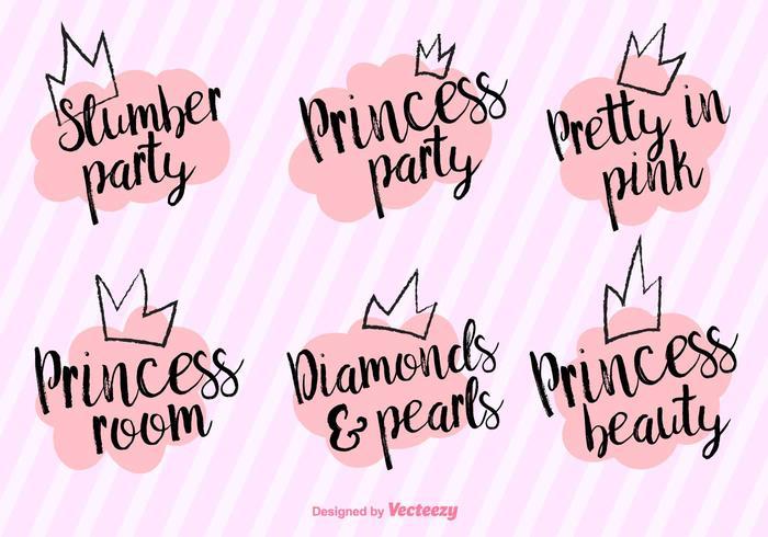 Vector Princess Party Phrases