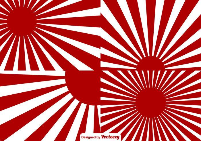 Världskriget Japan Sunburst verkställer bakgrund