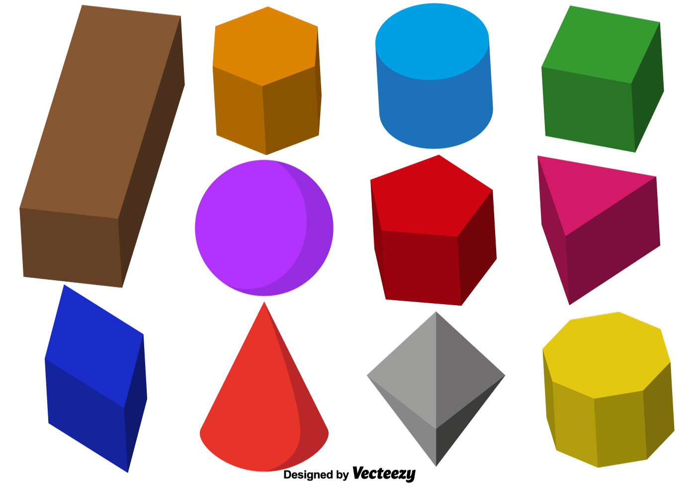 Vector Collection Of 3d Prisms
