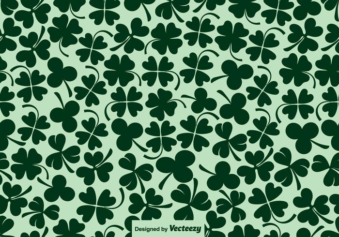 Vector Clover Icons Seamless Pattern