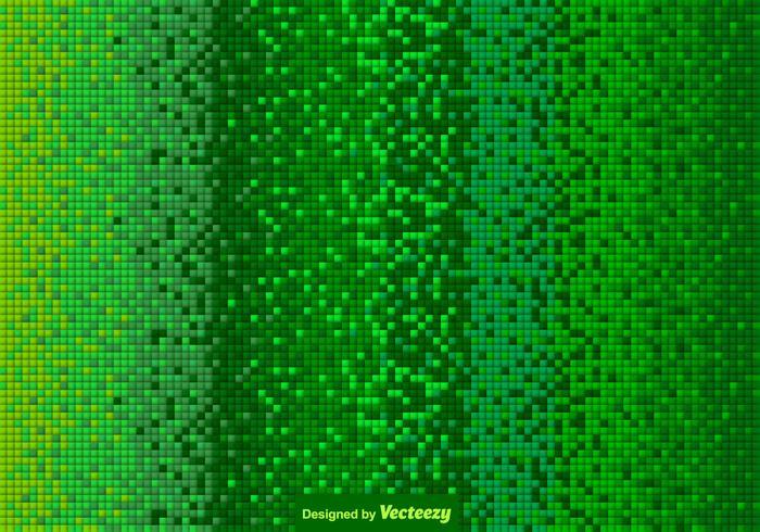 Vector Green Tiled Background