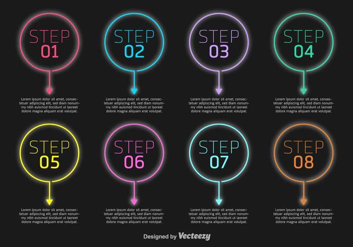 Presentation Steps vektorelement