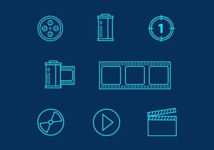 Film Vector Line Icons
