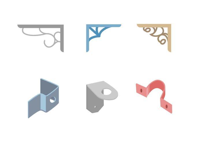 Único libre del metal de la forma del soporte Vectores