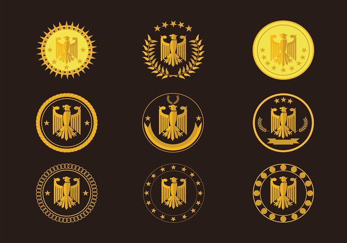 Eagle Seal Gold Logo Free Vector