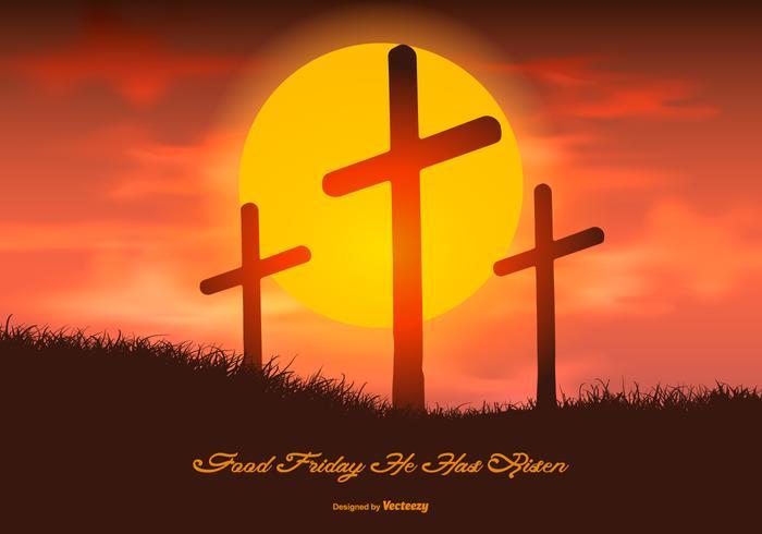 Hermosa ilustración de Viernes Santo vector