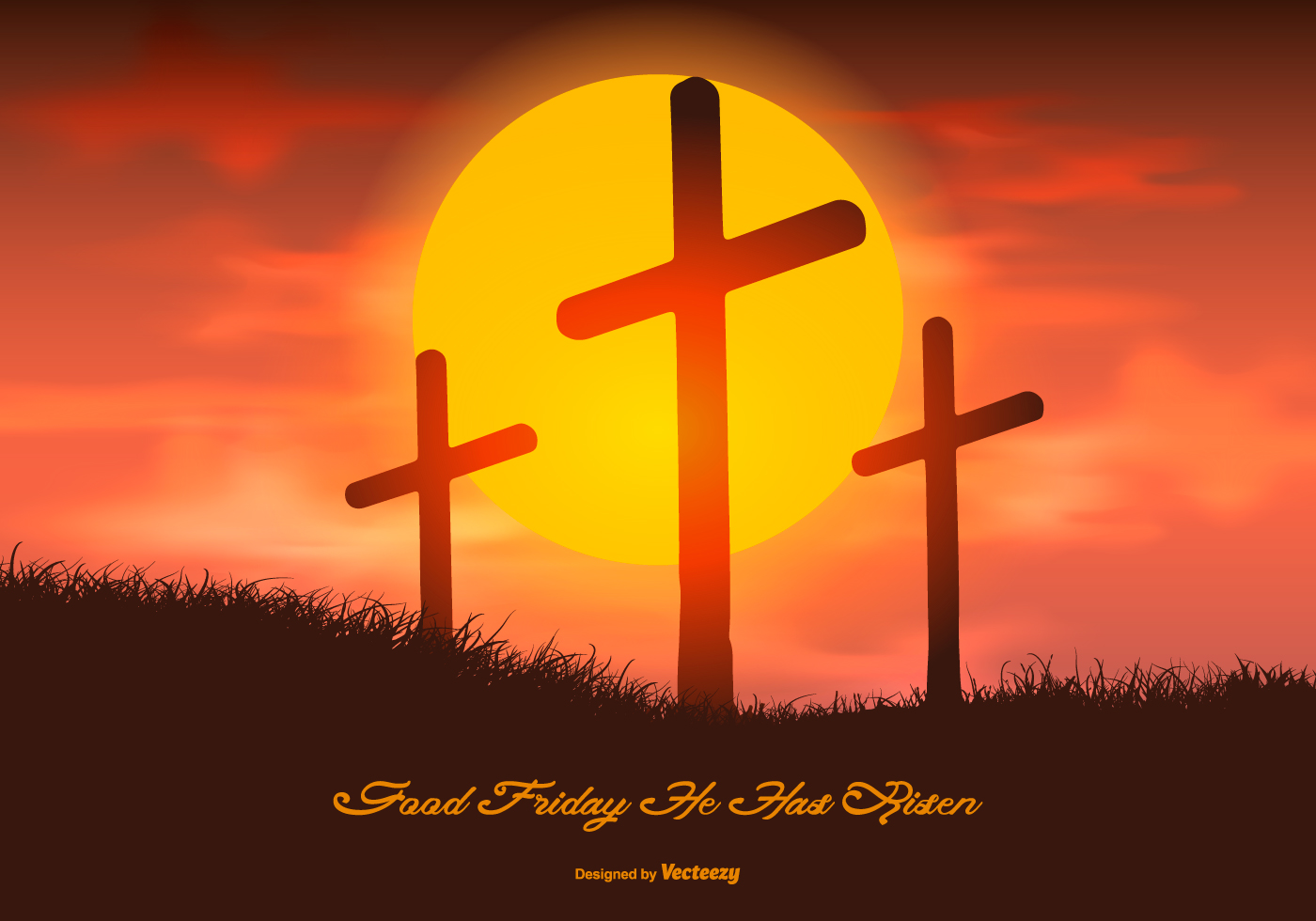 Beautiful Good Friday Illustration - Download Free Vector ...
