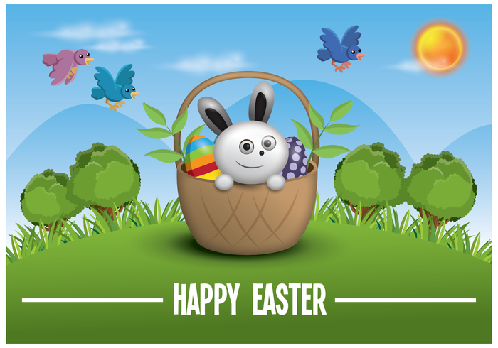 Free Easter Illustration Background Vector