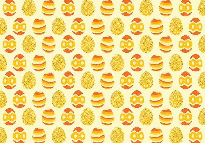 Yellow Easter Egg Pattern Background vector