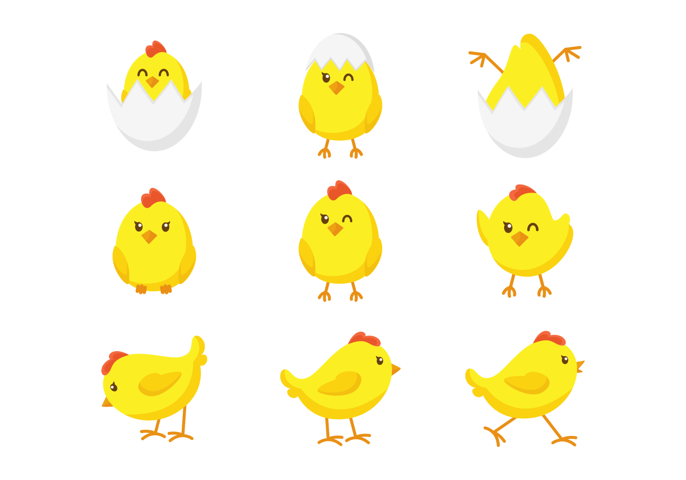 Easter Chick Cute Icons - Download Free Vectors, Clipart ...