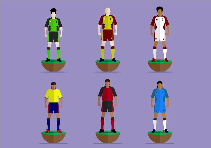 Subbuteo Game Players Vector Collection