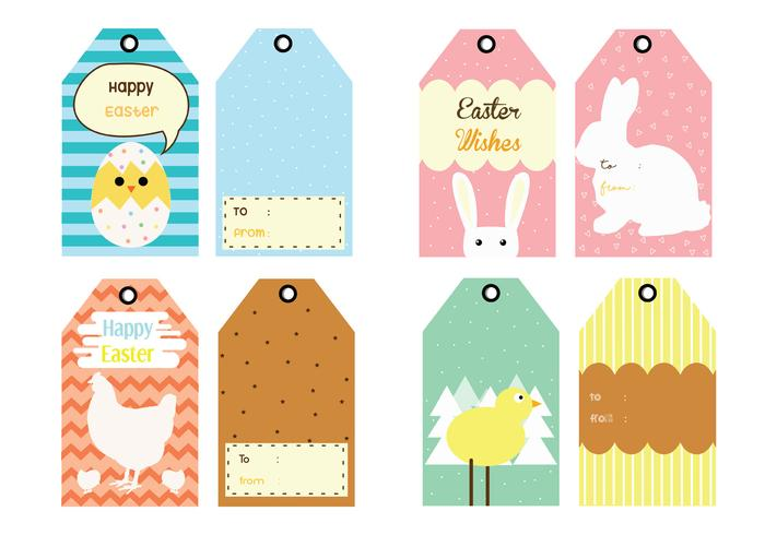 Easter Gift Tag Vector Pack