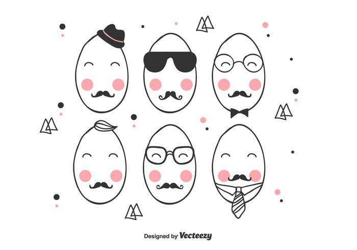 Hipster Easter Egg Vector