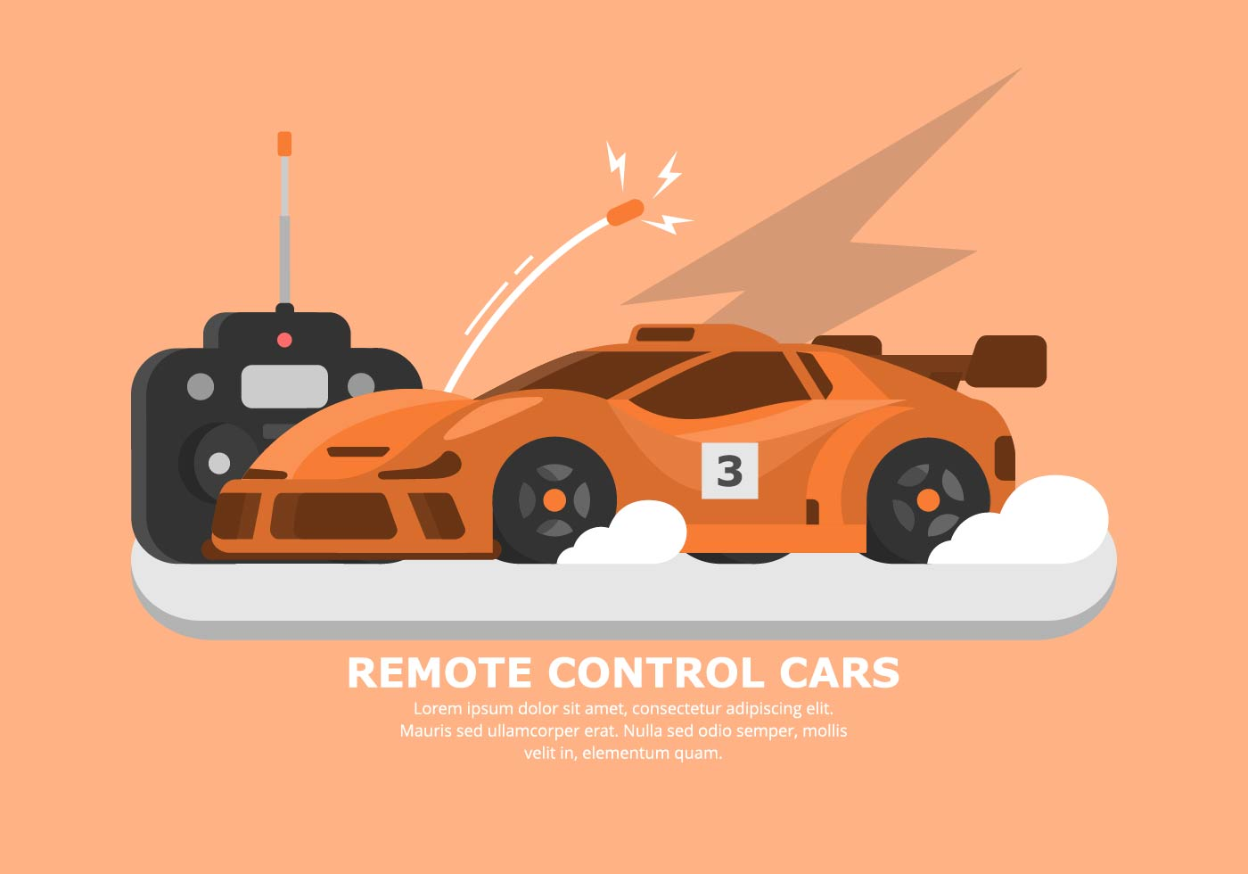 Orange Rc Car Vector Download Free Vector Art Stock