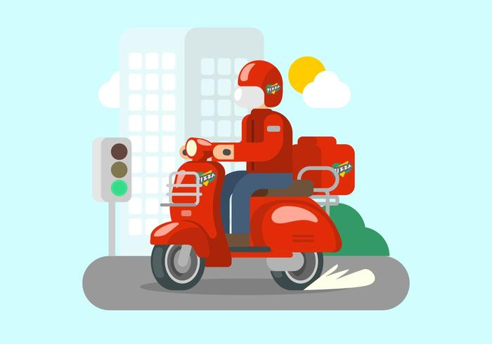 Bright Red Lambretta Illustration vektor
