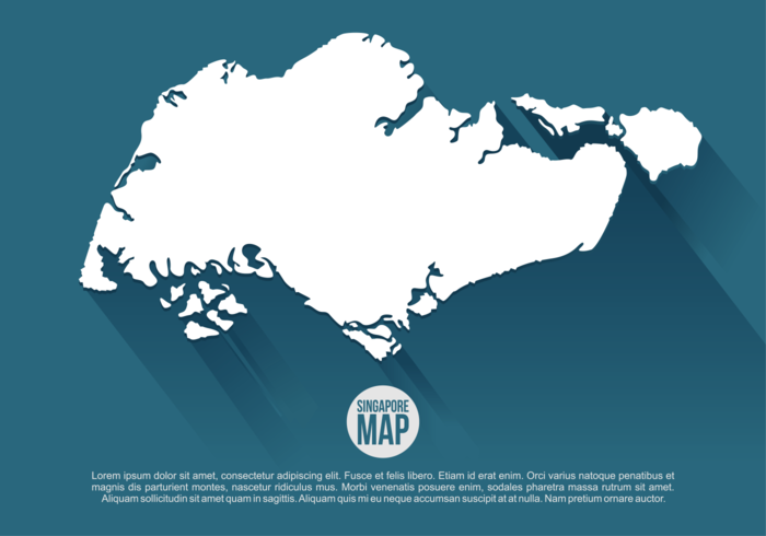 Singapore Map Vector Illustration Download Free Vector Art - Singapore map vector
