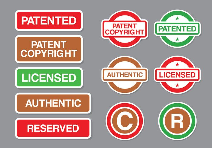 Copyright and Patent Stamp Vector Pack