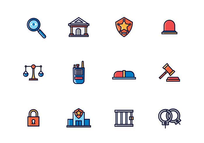 Gesetzesvollstreckungs-Ikonen