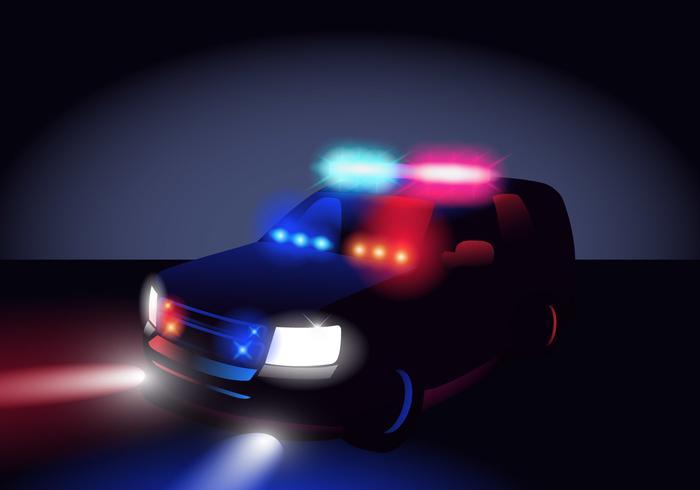 Police Lights In The Dark