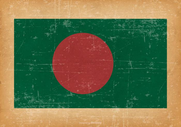Flag of Bangladesh on Grunge Background vector