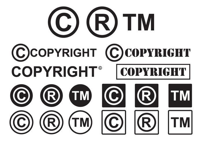 Set of Minimal Copyright Symbol Vectors