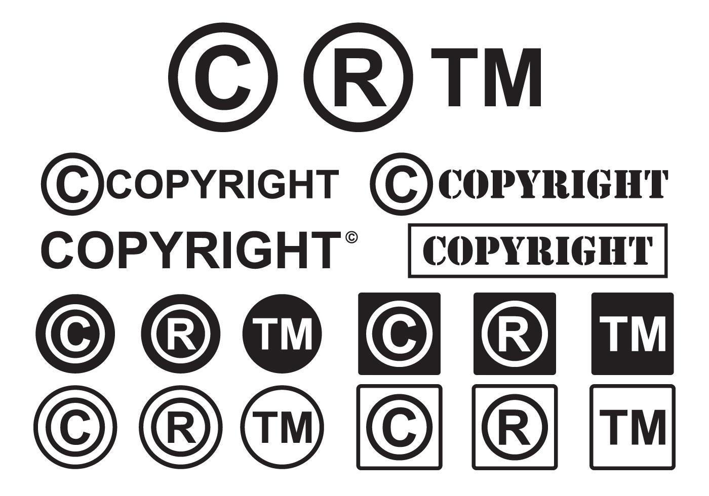 Set of minimal copyright symbol vectors download free vector art set of minimal copyright symbol vectors download free vector art stock graphics images buycottarizona
