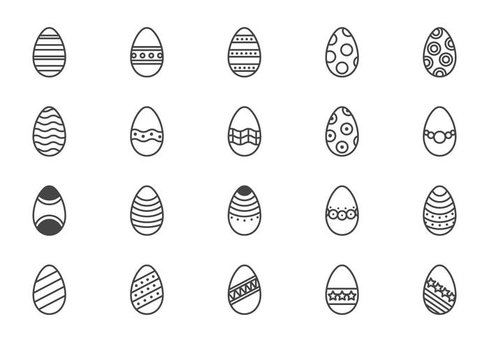 Minimal Easter Eggs Vectors