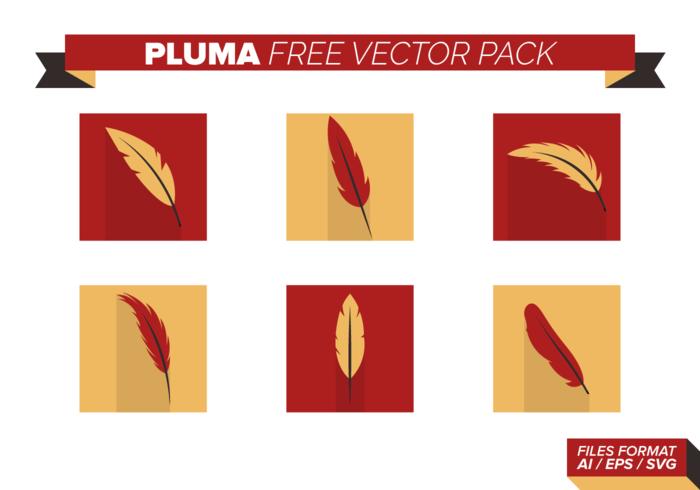 Vermelho e amarelo Pluma gratuito Pacote Vector