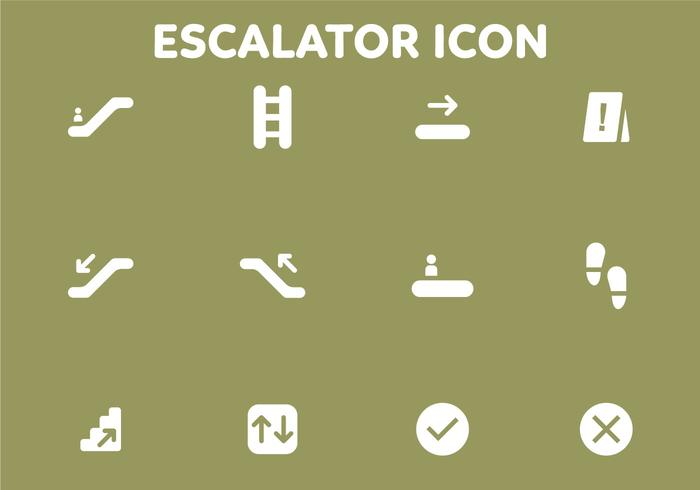 Stair och gateway Vector Icon Pack