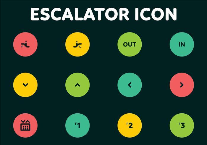 Escalator Codes Vector Icons
