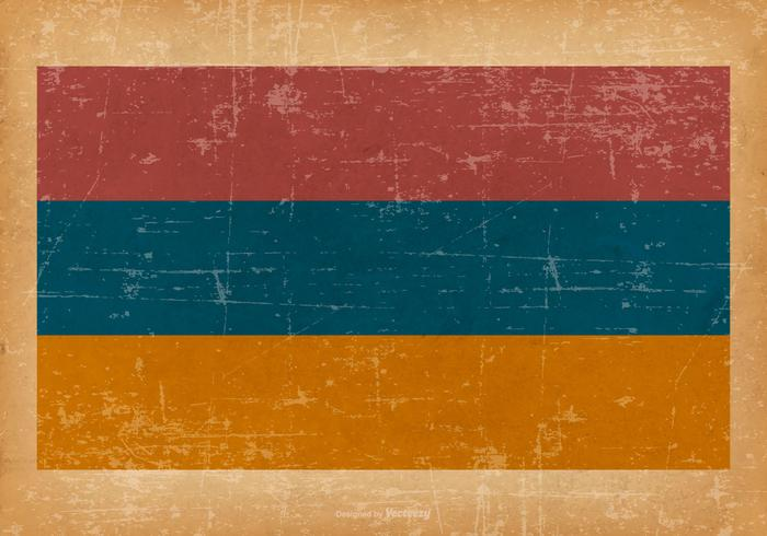 Grunge Flag of Armenia