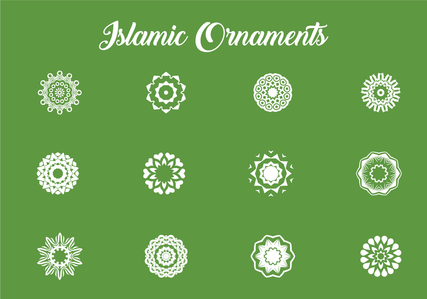 various of islamic ornaments