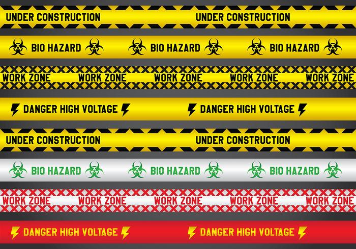 Various Danger Line Vectors
